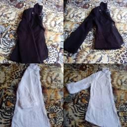 Éstou vendendo um Blaizer preto M. É uma Camisa branca numero P.