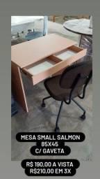 Mesa small com gaveteiro med. 85x45x75