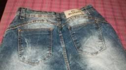 Calça jeans claro com lycra