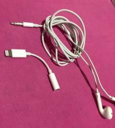 Fone e adaptador originais Iphone Apple