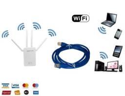 Kit Cabo Internet + Repetidor Wifi, Amplificador Wireless, 4A Wi-fi