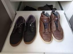 Vans original em couro + Etnies Preto