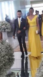 Vestido amarelo de festa n40