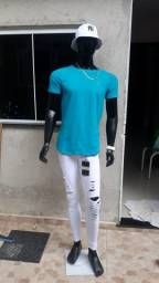 Calça Jeans Skinning Branca Kawapii