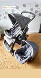 Kit carrinho e bebê conforto Burigotto unissex.