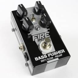 Pedal Preamp Bass Pusher Fire c/ Fonte