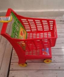 Carrinho de Supermercado Market Vermelho
