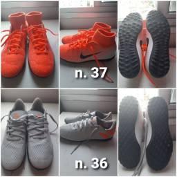 Chuteira Nike e Adidas