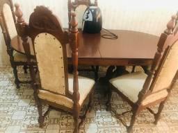 Mesa c/5 cadeiras antiga