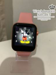 Lindo relógio SmartWatch iwo T900 rosa