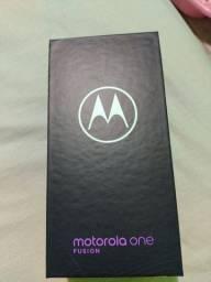 V/Motorola one fusion lançamento 128GB zerado