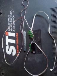 Kit chave liga desliga ,botão de volume é mudar canal é placa do sensor