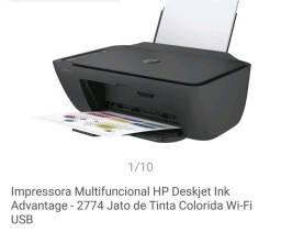 Impressora multifuncional Hp nova na caixa com nota fiscal usada poucas vezes
