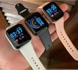 Smartwatch D20  ( preto, rosa e branco). Leia o anúncio.
