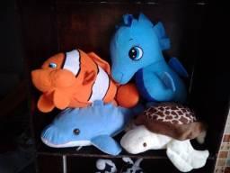 Kit pelúcias fundo do mar