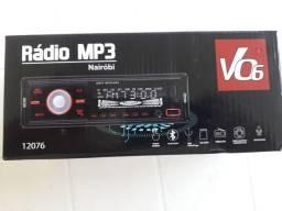 Radio bluetooth,mp3 com controle