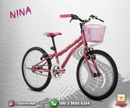 Bicicleta Aro 20 Houston Nina com Cesta m18d5s21
