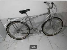 Bicicleta aro 26, cromada , toda show