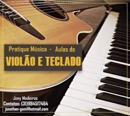 Aula de Música: Violão, Teclado, Teoria e Percepção Musical.