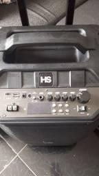 Caixa de Som + Microfones sem fio para karaokê e Igrejas