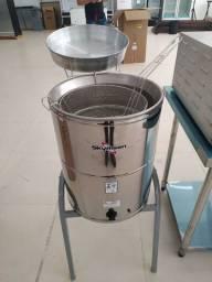 Título do anúncio: Fritadeira elétrica água e óleo inox JM Equipamentos Paulo Malmegrim