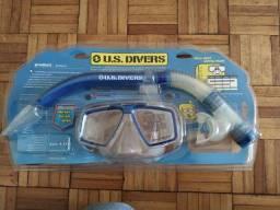 Mascara + snorkel para mergulho US divers  zero