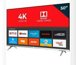 Tv AOC 4k ultra HD 50 Smart na caixa semi nova