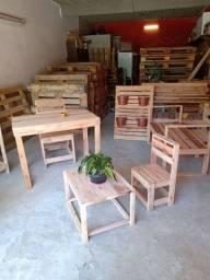 Promoção conjunto de 1 mesa e 2 cadeiras