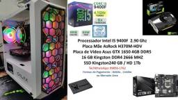 PC Gamer I5 9400F 16Gb GTX 1650 4Gb + Kit Gamer Completo !!!