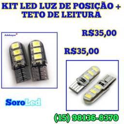 KIT LED COM CANBUS TETO + PAINEL DE POSIÇÃO