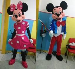 Personagem vivo para festas Mickey E Minnie os mas lindos