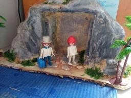 Playmobil vintage casal banqueiro faroeste