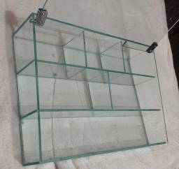 Porta maquiagem de vidro