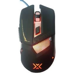 Mouse Gamer Pro Usb 7 Botões 3200dpi Soldado Com Led Gm-720