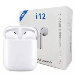 Fone Intra-Auricular Sem Fio Bluetooth i12 Tws