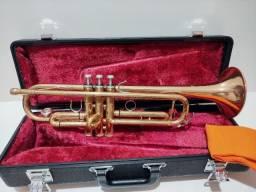 Trompete Yamaha Japão 4335g Sib Original Completo Dourado -