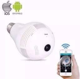 Câmera Lampada Espiã Ip 360 Wifi
