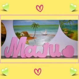 Nomes/Palavras em MDF para festas e quartos
