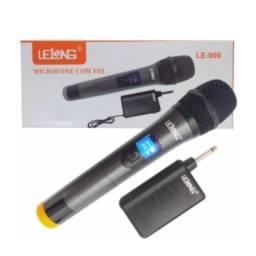 microfone moderno visor em led profissional otimo alcanse