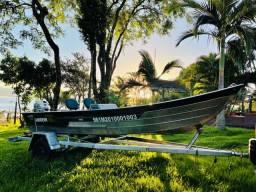 Lancha Barco Fluvimar 5000S Motor de Popa Jhonso n 25hp