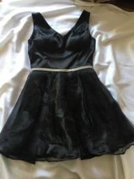 vestido preto -rodado