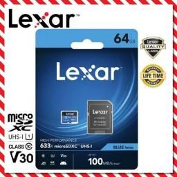 Cartão Micro Sd 64gb Lexar 95mb/s Lacrado Com Embalagem