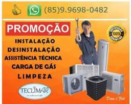 Instalação de ar condicionado a partir de R$199,90 (85)9.9698-0482