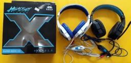 Fone de Ouvido Headset Gamer Knup Super Bass Hd Usb - P2