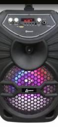 Caixa de Som Amplificada C/ Bluetooth + USB + Rádio FM - Nova