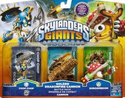 Kit Tripack Skylanders Giants - Chop chop + Dragonfire Cannon + Shroomboom
