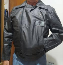 Jaquetas em couro modelo motociclista