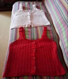 Vendo duas blusas de croche