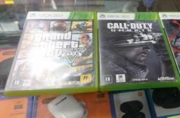 Jogos originais Xbox 360 GTA 5 e call of duty