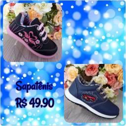 Sapato infantil masculino e feminino
